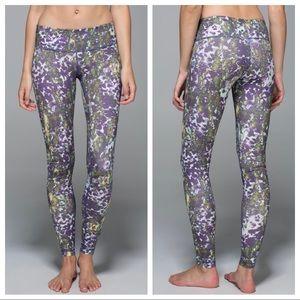 LULULEMON Wunder Under Fullux Iris Floral Leggings
